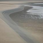Synlig rende efter tidevand